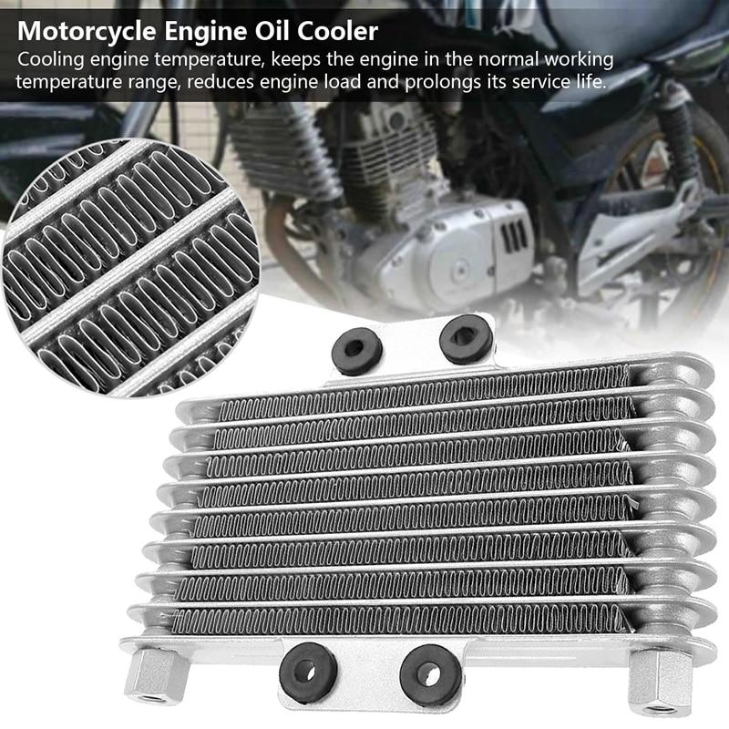 Cooling Temperature Universal 125ml Aluminum Replacement Cooler Engine Radiator 125CC 250CC Silver Brand New