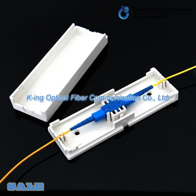 Boîte de protection de câble de baisse de SC de 50 pcs boîte de Protection de fibre optique tube thermorétractable pour protéger l'outil de fibre de ftth de plateau d'épissure de fibre