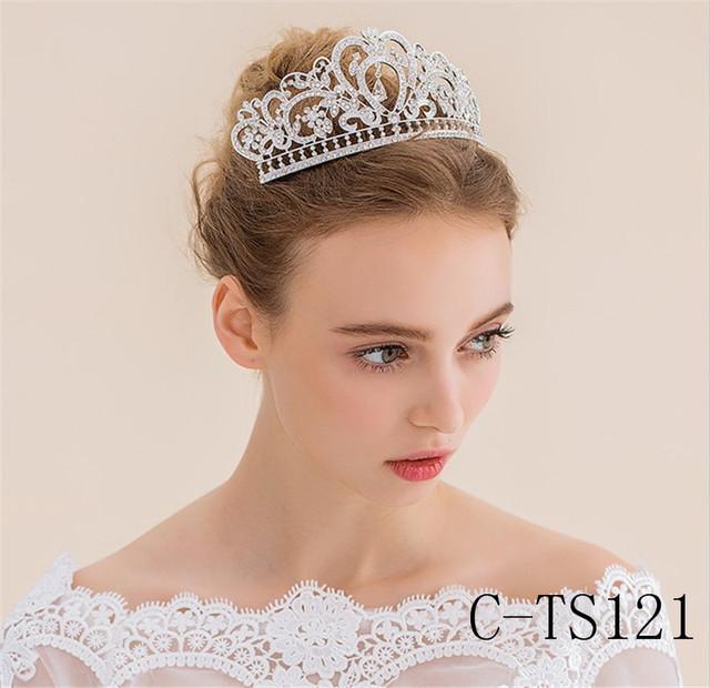 Bling Acessórios Do Cabelo Do Casamento de Cristal do Metal Prata/Ouro Rei Coroa Acessórios De Noiva Online 2016 Cappelli Da Sposa