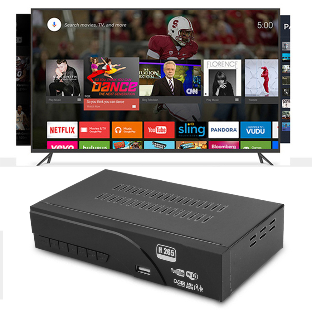 MECOOL 1080P DVB T2 HDTV Smart Set top Box H.265 T2 8943 with Remote Control for Computer Monitor Support WIFIYOUTUBE