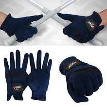 Wearable left right dark pair fiber - micro blue gloves size