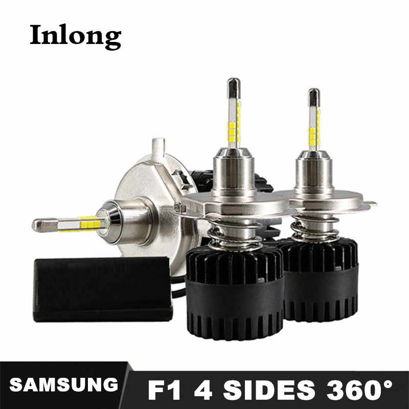 With 4 Sides SAMSUNG 12-18 Pieces Chips H4 LED H7 10000LM H1 H11 9005 9006 HB4 H8 D2S Car Headlight Bulbs 6500K Fog Lights DC12V