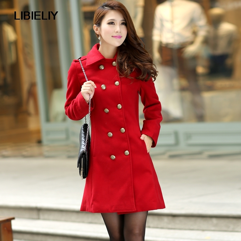 New Nice Outerwear & Coats Winter Dress Red Double Breasted Wool Coat Women  Slim Outwear medium-long Trench Coat For Women A8 - Online Get Cheap Red Trench Coat Dress -Aliexpress.com Alibaba Group