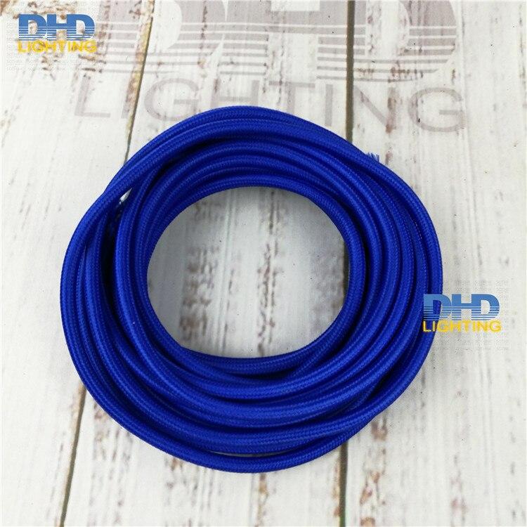 2x0.75 creative cables Cavo Elettrico Rotondo Vertigo HD Rivestito in Tessuto Optical Nero e Argento ERM64-10 Metri
