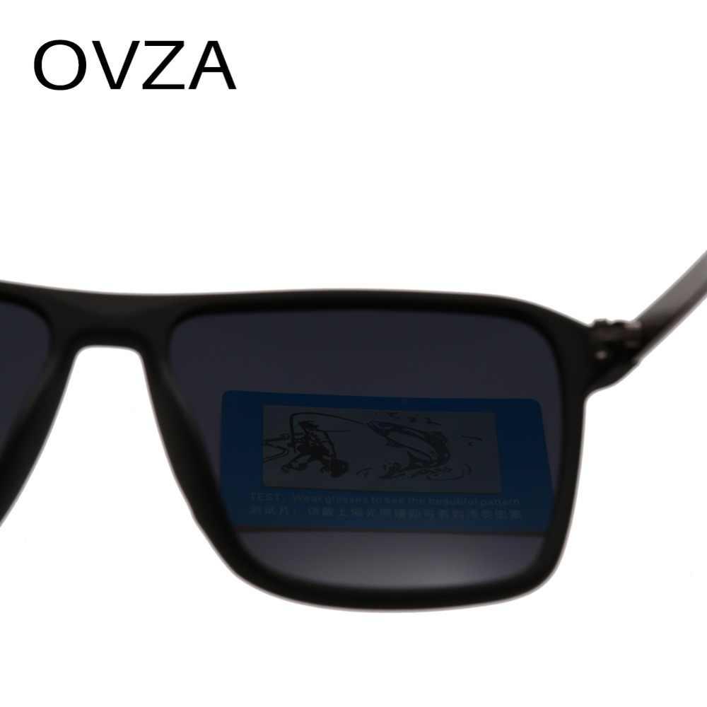 OVZA 2019 Mới Kính Mát Nam Tráng Gương Lái Xe Kính Hình Chữ Nhật Màu Đen Kính Mát Nam Thời Trang Thoáng Mát Cổ Điển S6076