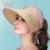 Nueva Moda Sol Sombrero Verano Mujer Nueva Top Vacío Sol Tapa de Ocio Femenino Del Todo-Fósforo Plegable B-4884 Casco de Sol Al Aire Libre