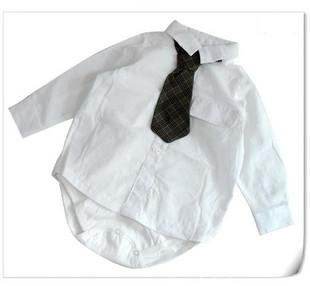 Baby Boy Formal White Shirt Romper And Tie Set Baby Boy