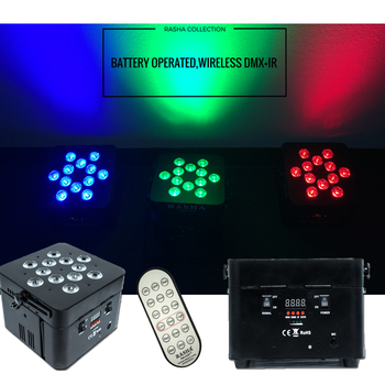 (Pack of 4)12*18W 6in1 RGBAW UV Freedoom Battery Powered Wireless DMX LED Par Light With IRC REMOTE
