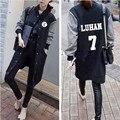 Exo kpop Общий альбом одежда бейсбол равномерное куртка с длинным рукавом с капюшоном участки студент осень женщины exo k-pop футболка