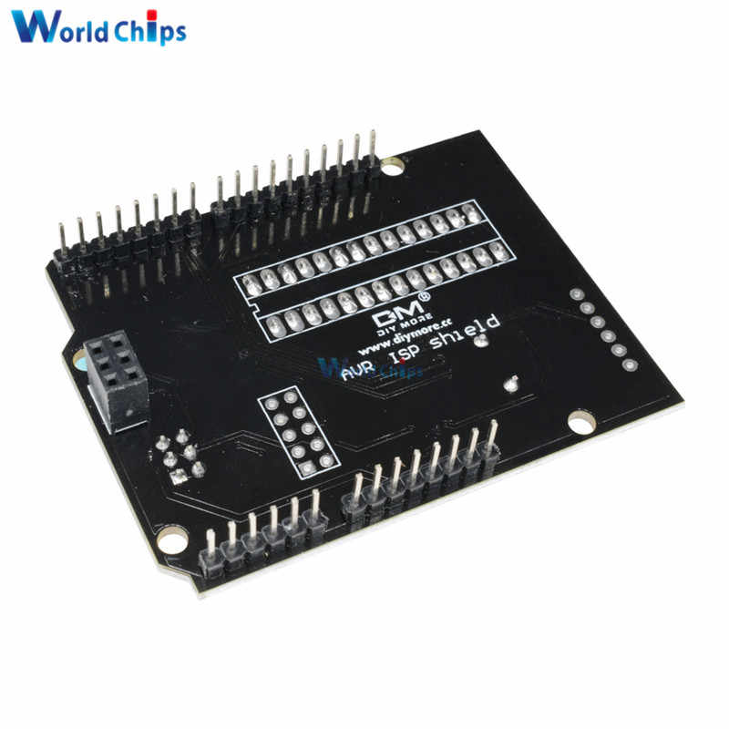 AVR ISP щит горящий загрузчик программист Atmega328P модуль загрузчика с зуммером и светодиодный индикатор для Arduino UNO R3