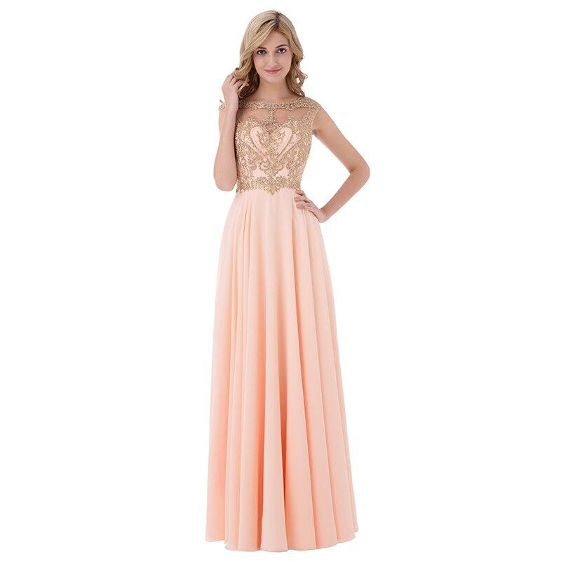 Sleeveless Chiffon Sheer Neck Illusion Back Long Bridesmaid Dress 5