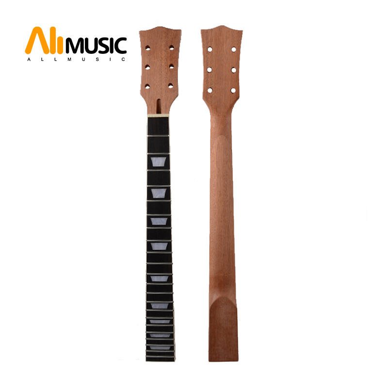 71f0eca3c24 22 Fret Guitar Neck open sattin LP Mahogany Rosewood fingerboard sector  binding Inlay