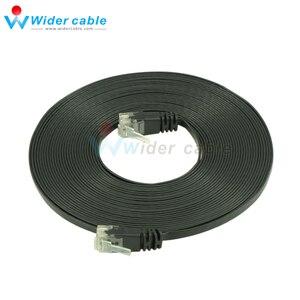 5 м черный 1,1 мм толщина прошла Fluke CAT6 патч-корд Ультра Плоский UTP CAT 6 сетевой кабель с RJ45