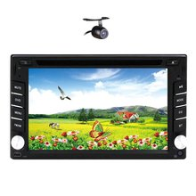 Car Stereo DVD Player With 6.2″ Double 2Din Car Radio BT RDS Car CD/Video Player Free Camera Included In Dash Headunit No-TV VW
