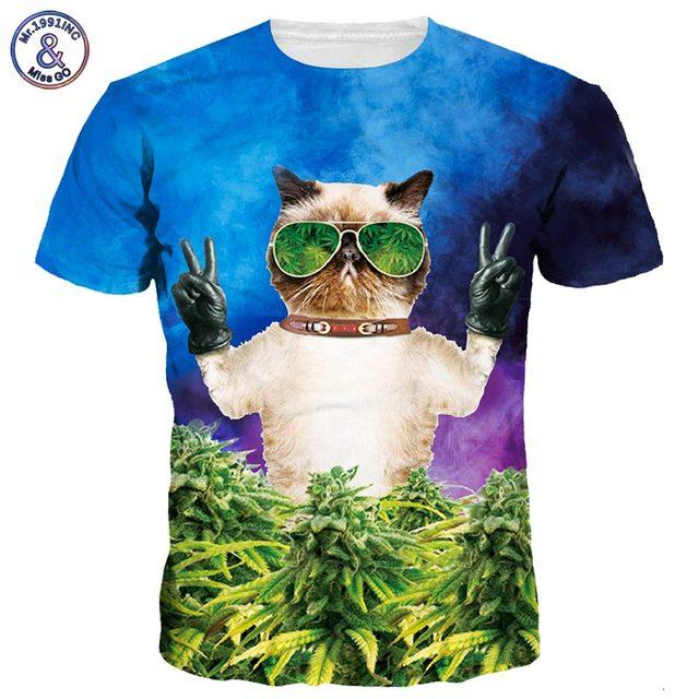 3D cat t-shirt kush