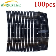 Wholesale 100pcs 100W Flexible Solar Panels Solar Modules 5KW Solar System for Beginner for RV/boat/roof Factory Price