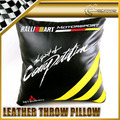 New Arrival Black Leather Ralliart Throw Pillow For Mitsubishi EVO 7 8 9 FTO Car Accessories Car Styling