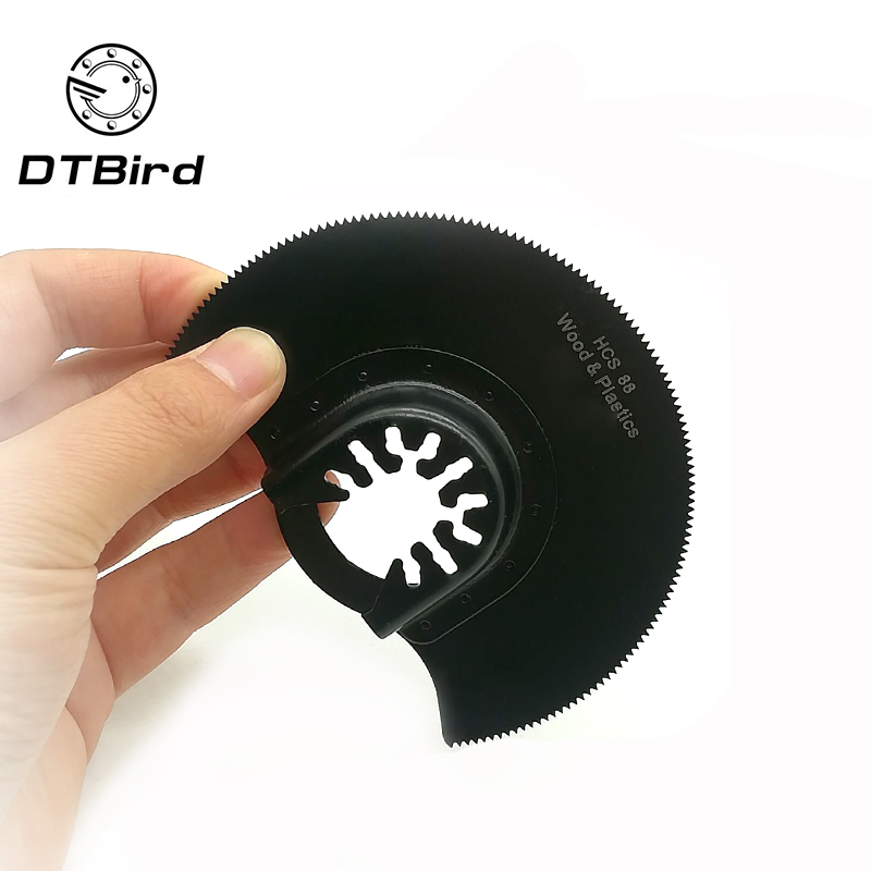 1pc 88mm Saw Blades Oscillating Multi Tools HCS Quick Release Multitool Carbide Segment Saw Blade For Wood Metal Cutting