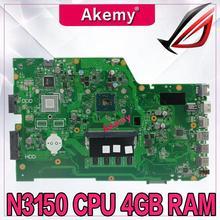 Akemy X751SA 4 ядра N3150 процессор 4 Гб ram Материнская плата ноутбука для ASUS X751S X751SJ X751SV материнская плата Рабочая