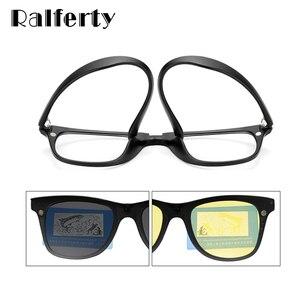 Image 4 - Ralferty רב פונקציה מגנטי מקוטב קליפ על משקפי שמש גברים נשים קל במיוחד TR90 3D צהוב ראיית לילה משקפיים