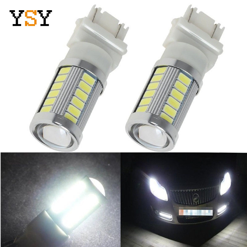 20Pcs Pure White 3157 3156 3057 High Power 5730 33SMD LED Bulbs for Brake Tail Backup
