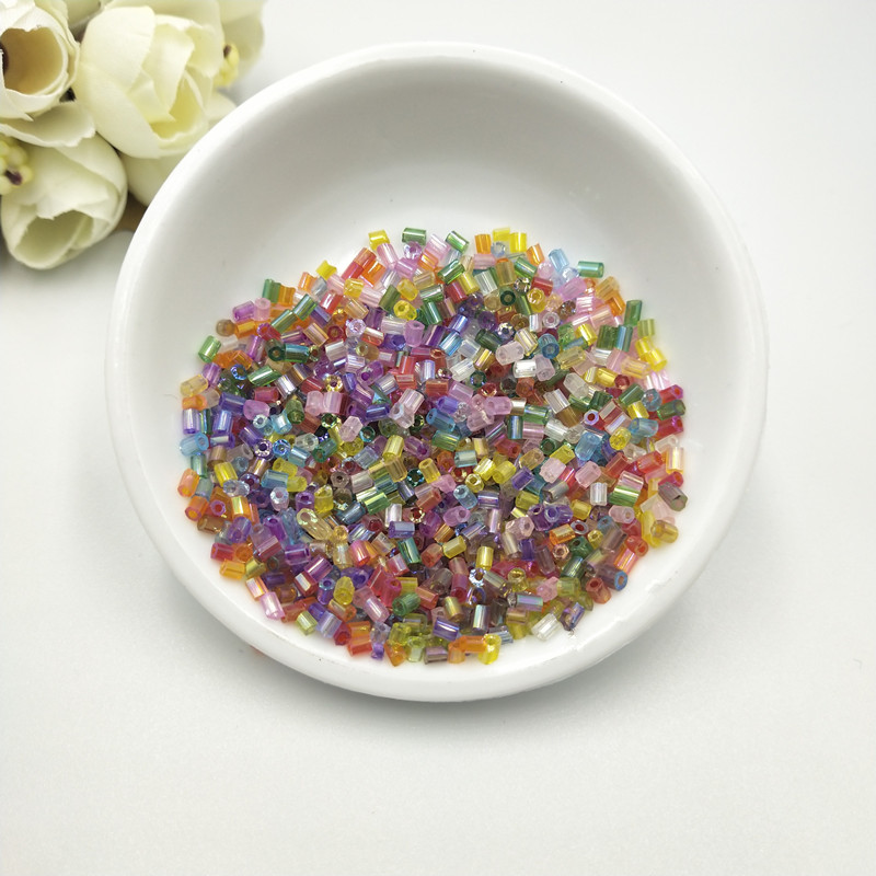 1020Pcs lot 2mm Czech Cylindrical Glass Tube Bugle Beads DIY Bracelet Necklace Loose Beads for Jewelry Making Accessories in Beads from Jewelry Accessories