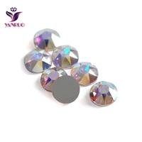 Yanruo esparadrapo strass 2088 cristais ab ss20 (8 grande + 8 pequeno) strass cristal ferro de calor no hotfix strass apliques diy