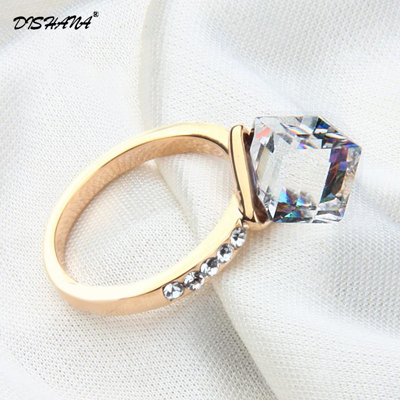 2016 Gold -color Ring Full Of Married Women Jewelry Zirconia Antique Jewelry Accessories Contact Bague (KA0013-3)