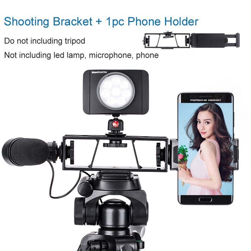 ightpro Photo Shooting Phone Selfie Camera Tripod Bracket with Phone Clip Holder for iphone Facebook Youtube universal cell phone holder mount bracket adapter clip for camera tripod telescope adapter model c