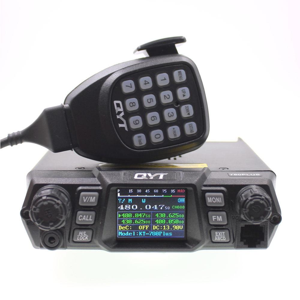 QYT KT-780 Plus Walkie Talkie UHF 400-470mhz 80W KT-780plus Quad Display Car Mobile Radio Station Amateur Radio Communciator