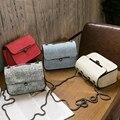 Pequeno Ocasional das Senhoras das Mulheres Mensageiro Crossbody Bag Com Cadeia Famosa Marca de Luxo de Estilo Coreano Sacos de Ombro 2017 Frete Grátis