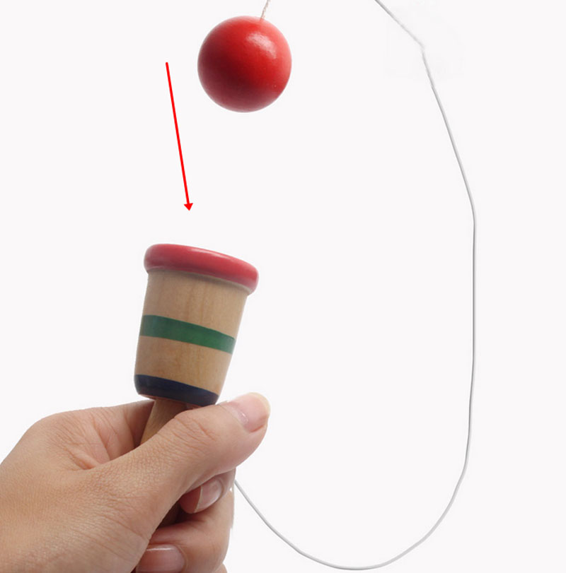 Funny Wooden Kendama Toys Skill Ball Cup Sports  For Kids Children Hands And Eyes Coordination Ability Training
