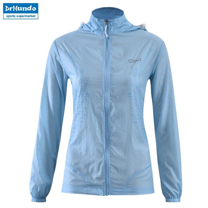 Outdoor Womens Fast Drying Anti-UV Waterproof Wind Protector Rain Ultralight Ultra-thin Skin Windbreaker Jacket UPF 40+