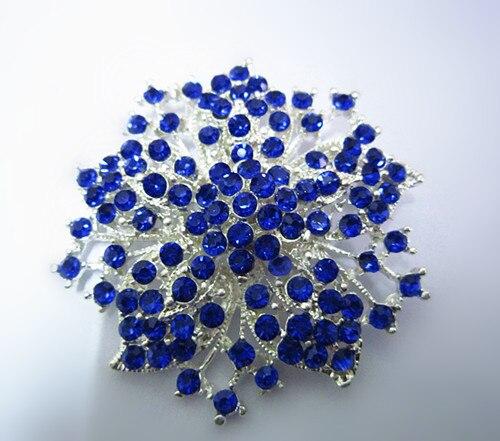 2,2 дюймов винтажная Серебряная черная Хрустальная Морская звезда, брошь для вечеринки, выпускного, ювелирные изделия, подарки - Окраска металла: 11