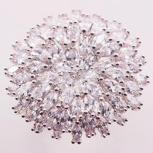 Огромный белый Кристалл Циркон стерлингового серебра 925 женщина кольцо Размеры 7 8 9 10 11 12 F584 оптовая продажа ювелирных изделий бесплатная до...