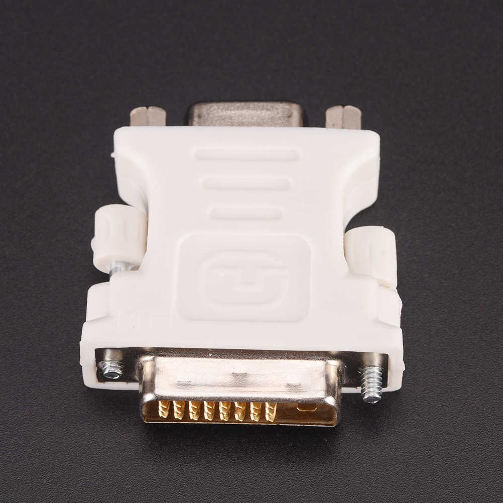 2017 جديد 24 + 1 دبوس DVI-D-D-M إلى VGA-F محول فيديو شاشة الكمبيوتر محول-25 دبوس (وصلة مزدوجة) DVI-D ذكر إلى 15 دبوس VGA أنثى