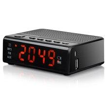Lecteur MP3 réveil remplaçable 18650 batterie Minuterie auto start FM Radio Musique USB Hifi effact pour chambre Housewear accessoire