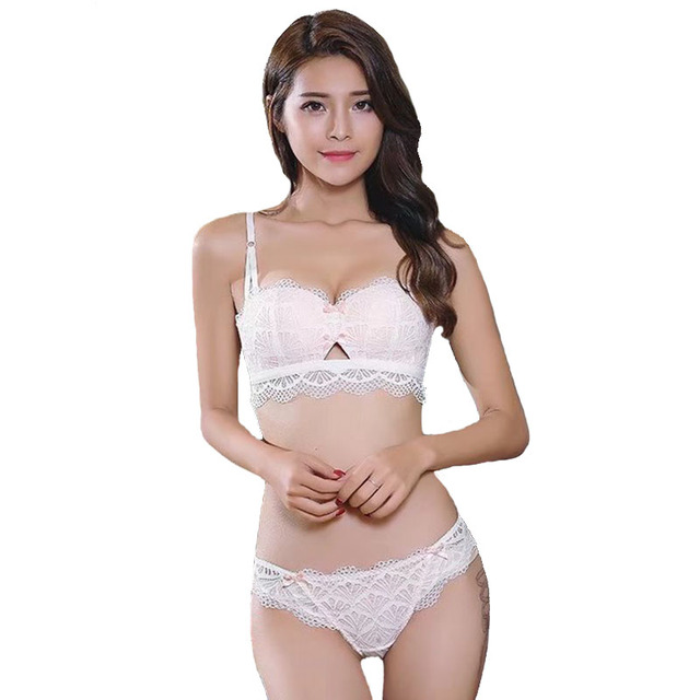 New Bra Brief Set Wireless Bralette Women's Underwear Seamless Lace Cotton 1/2 Thin Cup Push Up Lingerie Sexy Bra & Panty Sets