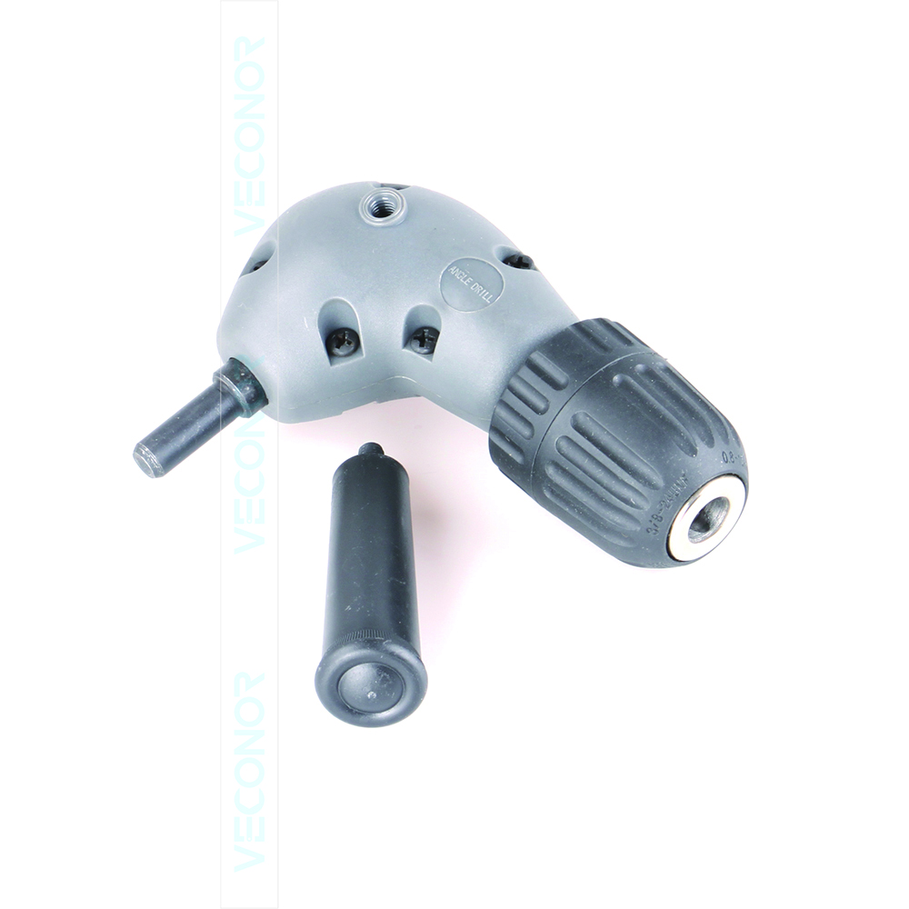 90 Degree right drill attachment electric drill angle adaptor 3/8 chuck size power tool accessories aluminium head right angle drill attachment bit 90 degree chuck key handle adaptor for electric tool accessories 1500 rpm