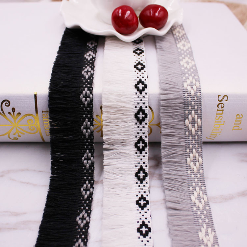 1yards/lot lace tassel Ribbon cotton tassels trimming fringes tassel lace for sewing bed clothes curtains DIY accessories Decor