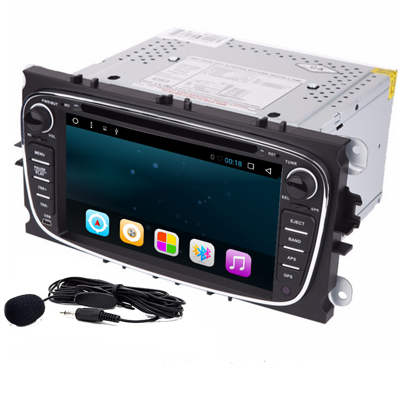 2 Din Android 6.0Car DVD Player GPS Navigationfor Ford Focus Mondeo 2012-2016 Audio Radio Stereo Head Unit Steering wheel contrl