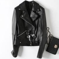 2018 New Fashion Genuine Goat Leather Jacket H65