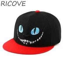 Snapback gorra de béisbol hombres Cheshire gato Hip Hop casquillos planos  Alice Wonderland sombrero bordado mujeres 788e2f36a18