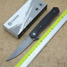 TIGEND 1067 flip folding knife ball bearing D2 blade carbon fiber / G10 handle outdoor camping multi-purpose hunting EDC tool стоимость