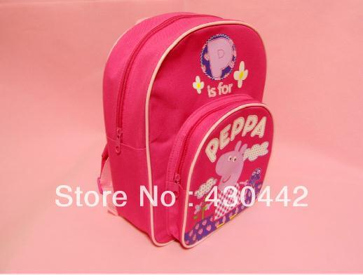 New arrival Kids Peppa Pig School Bags Children Backpacks Baby Bags For Children's Day Gift 30*25*9cm