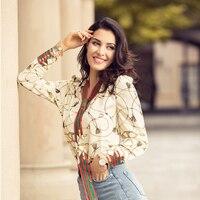 Lente Mode Casual Office Shirts Print Blouse Boog Lint Gestreepte vrouwen Shirt Zwart Beige Tops Plus Size XS-5XL Talever