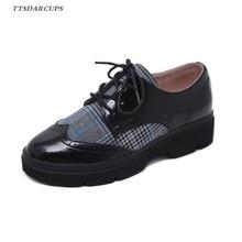 TTSDARCUPS New motion Internet estrela Sapatos Outono versão Coreana das  Mulheres fundo Grosso Azul Patchwork bandage d30461c675