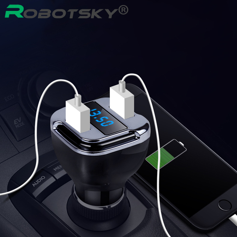 Robotsky 2 in 1 Dual USB font b Car b font Charger Locate E5 font b