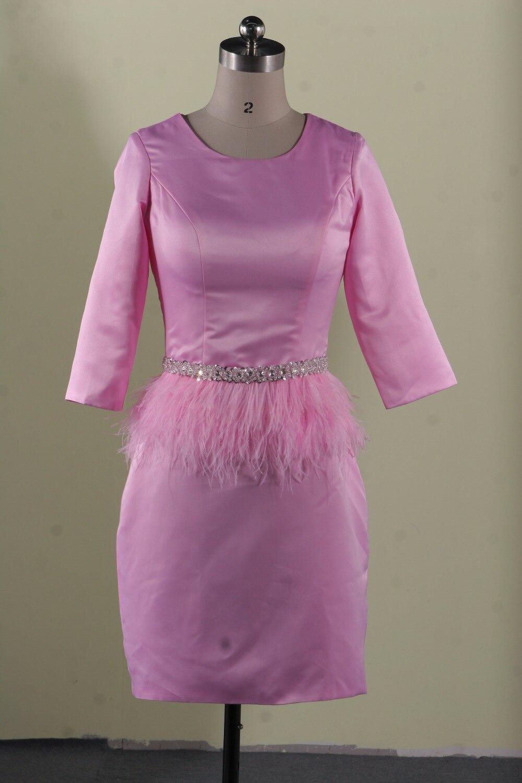 Musulmán Rosa Sirena Vestido de Noche Formal Del Partido Vestido ...