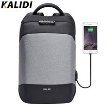 KALIDI Anti theft Laptop Backpacks 15.6 inch Waterproof Men Backpacks Charger Travel School Bags for Teenage Large Capacity Bags(China)